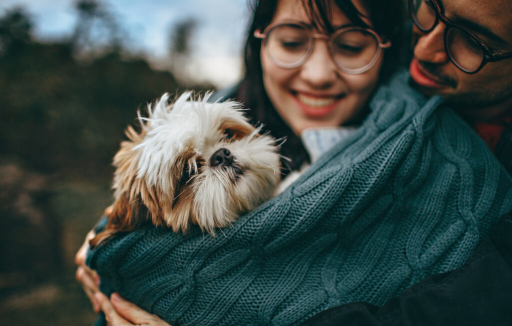 couple with pet